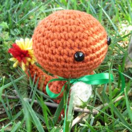 *Ready-to-Ship* – Chibi Charmander Amigurumi