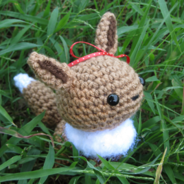 *Ready-to-Ship* – Chibi Eevee Amigurumi