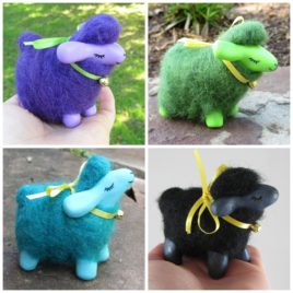 *Ready-to-Ship* – OOAK Wool & Clay Sculptures – Dream Sheep