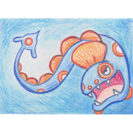 "367 - Huntail - Colored Pencil ACEO - 2.5""x3.5"""