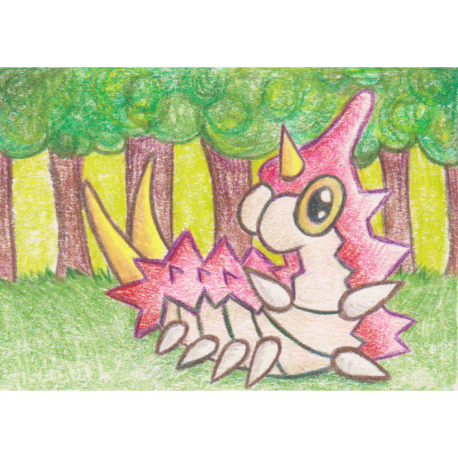 "265 - Wurmple - Colored Pencil ACEO - 2.5""x3.5"""