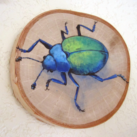 Blue and Green Beetle Painting