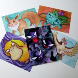 Pokemon Postcards – Set of 5