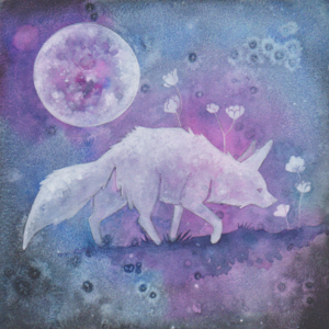 "Nocturne - 2018 - 6""x6"" - Watercolor on Aquabord"